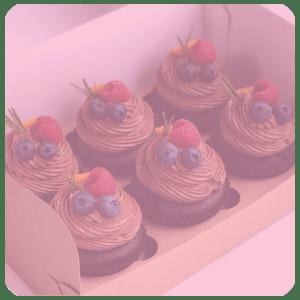 Капкейки с ягодами
