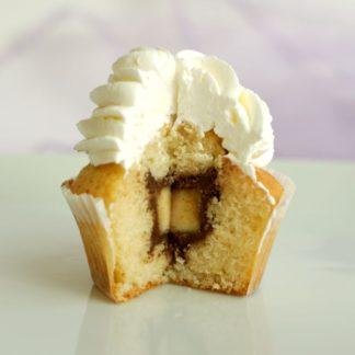 капкейки ванильные с шоколадом и бананом